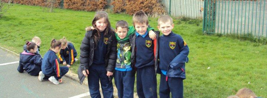 Friends at Scoil Maelruain Junior